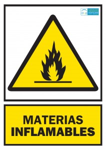 Advertencia materias inflamables