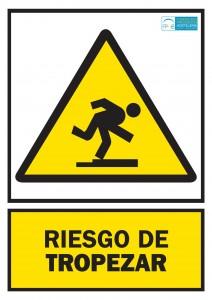 Advertencia riesgo de tropezar