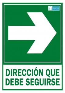 Direccion a aseguir derecha