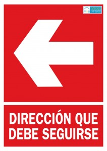 Direccion a seguir izquierda