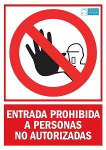 Prohibicion persona autorizada