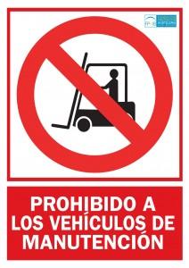 Prohibido paso carretillas