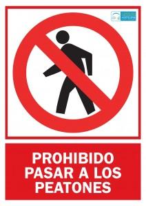 Prohibido paso peatones