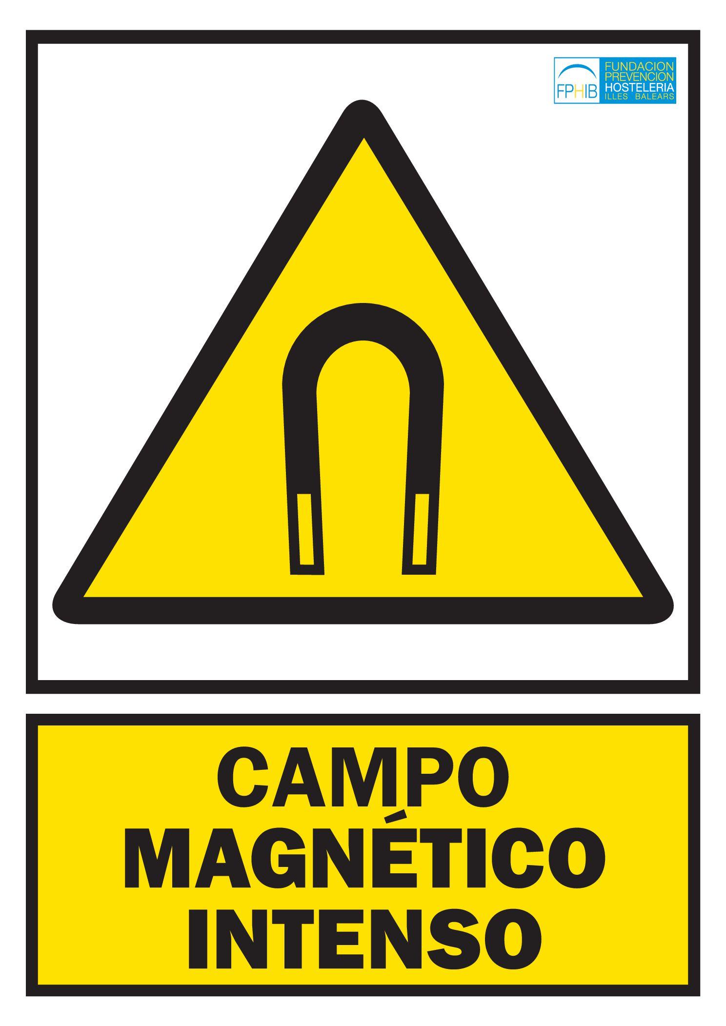Advertencia campo magnético